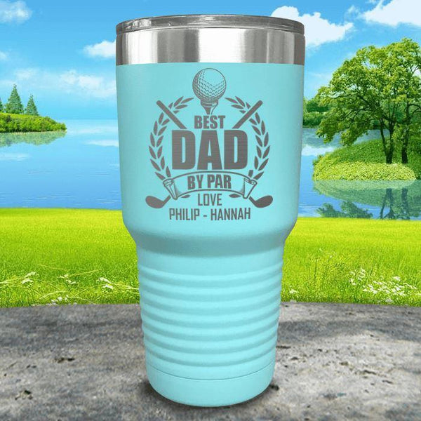 CUSTOM Best Dad By Par Engraved Tumblers Tumbler ZLAZER 30oz Tumbler Mint