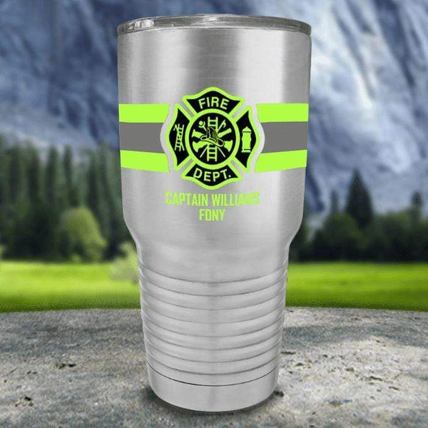 Personalized Firefighter FULL Wrap Color Printed Tumblers Tumbler Nocturnal Coatings 30oz Tumbler Stainless Steel
