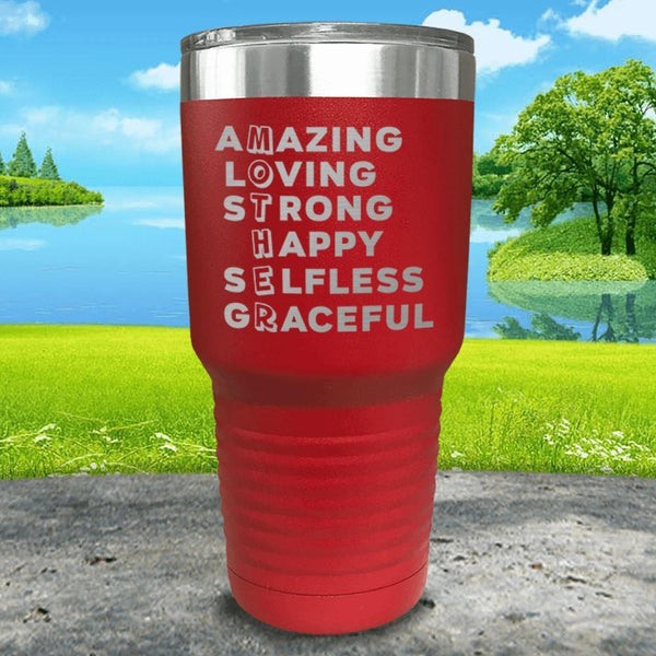 Mother Definition Engraved Tumblers Tumbler ZLAZER 30oz Tumbler Red