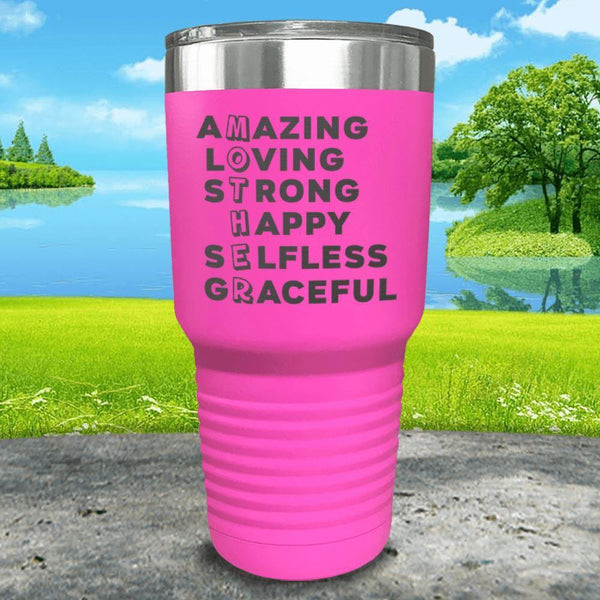 Mother Definition Engraved Tumblers Tumbler ZLAZER 30oz Tumbler Pink