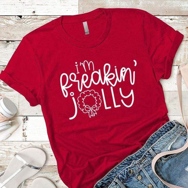I'm Freakin Jolly Premium Tees T-Shirts CustomCat Red X-Small