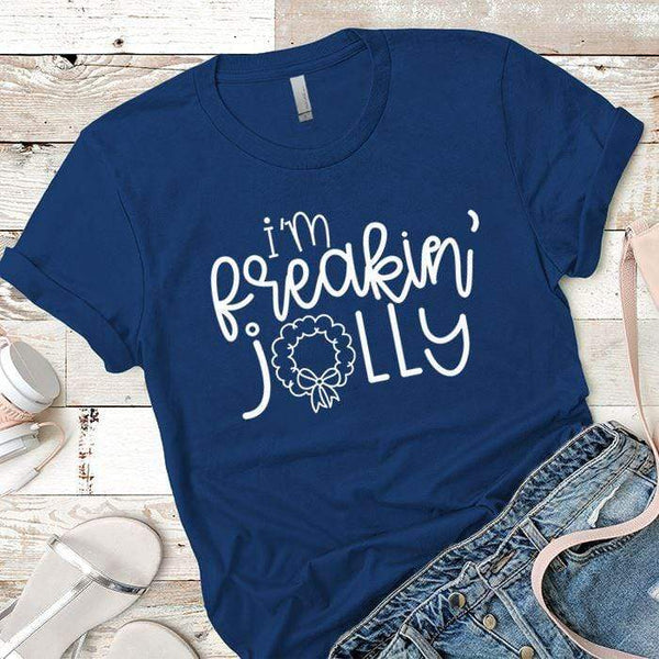 I'm Freakin Jolly Premium Tees T-Shirts CustomCat Royal X-Small