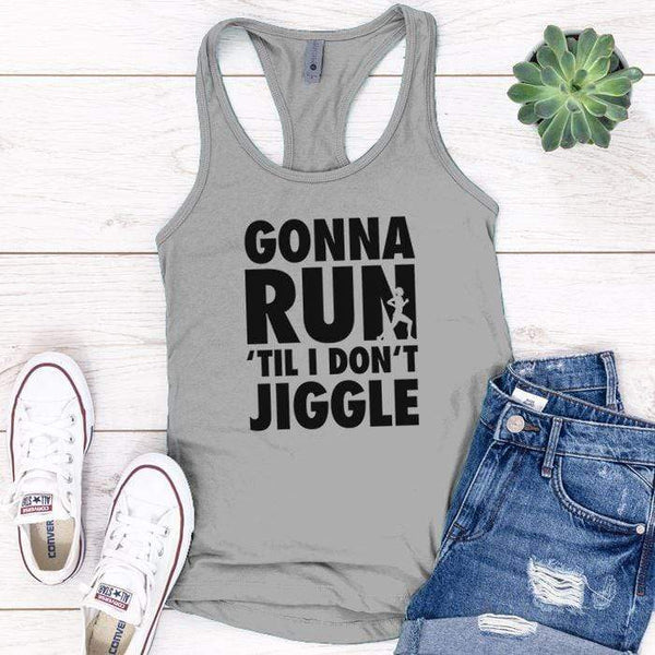 Gonna Run Premium Tank Tops Apparel Edge Heather Grey S