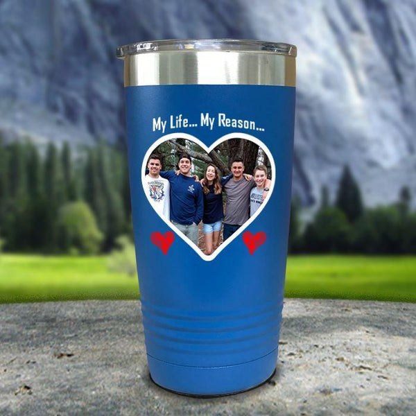 (CUSTOM) Photo Love Color Printed Tumblers Tumbler Nocturnal Coatings 20oz Tumbler Blue