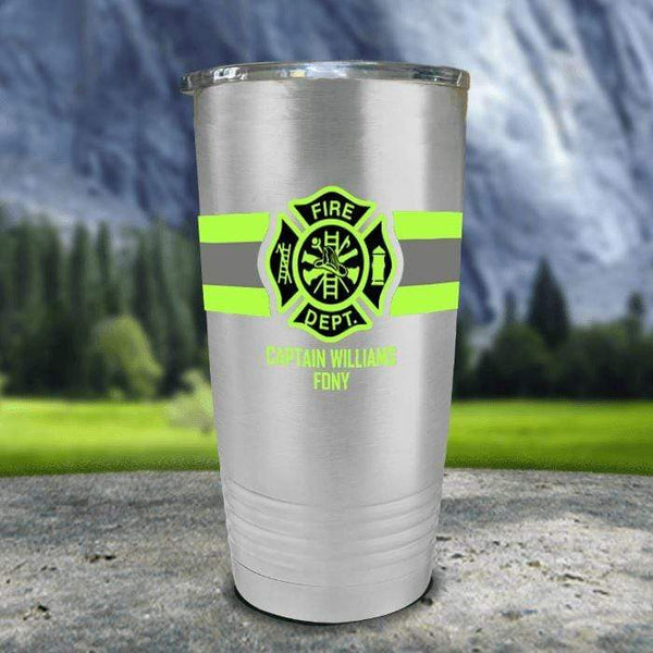 Personalized Firefighter FULL Wrap Color Printed Tumblers Tumbler Nocturnal Coatings 20oz Tumbler Stainless Steel