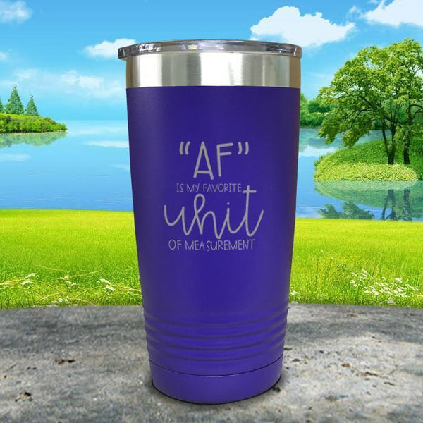 AF is My Favorite Unit Of Measurement Engraved Tumbler Tumbler ZLAZER 20oz Tumbler Royal Purple