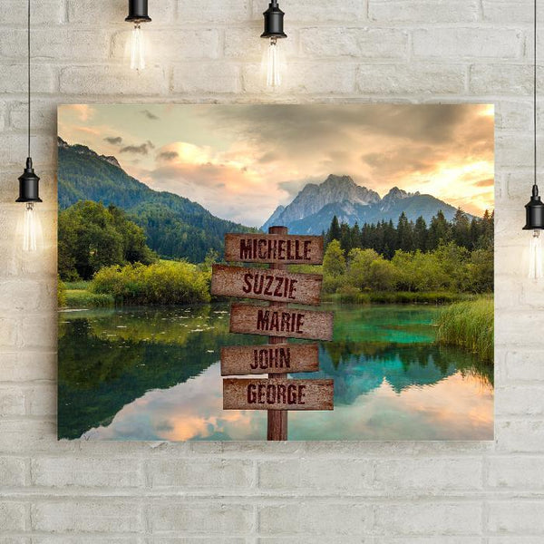 Personalized Breathtaking Mountain Premium Canvas