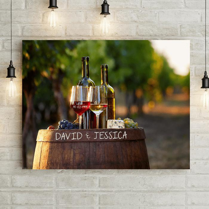 Personalized Wine & Love Premium Canvas-LemonsAreBlue
