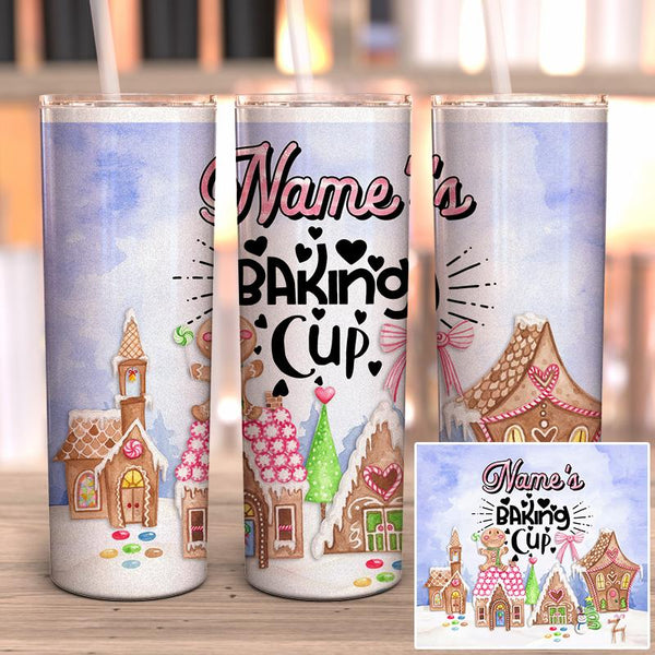 Personalized Baking Cup Full Wrap Tumbler