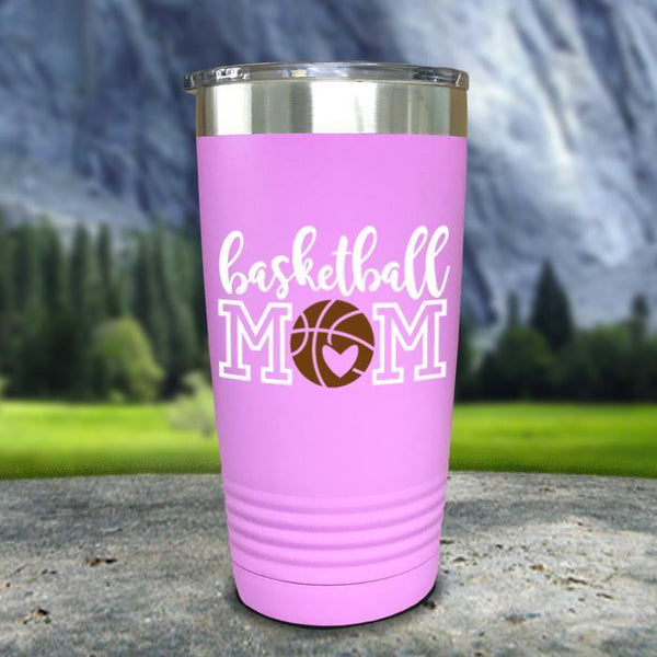 Basketball Mom Color Printed Tumblers Tumbler Nocturnal Coatings 20oz Tumbler Lavender