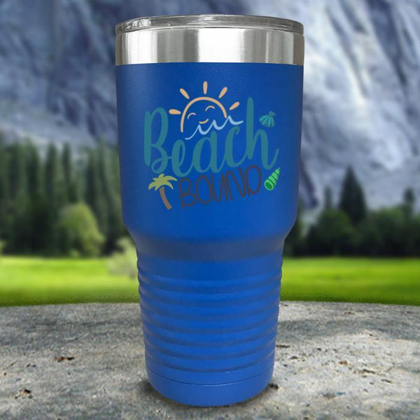 Beach Bound Color Printed Tumblers Tumbler Nocturnal Coatings 30oz Tumbler Blue