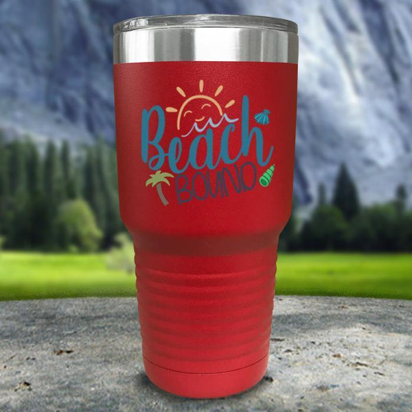 Beach Bound Color Printed Tumblers Tumbler Nocturnal Coatings 30oz Tumbler Red