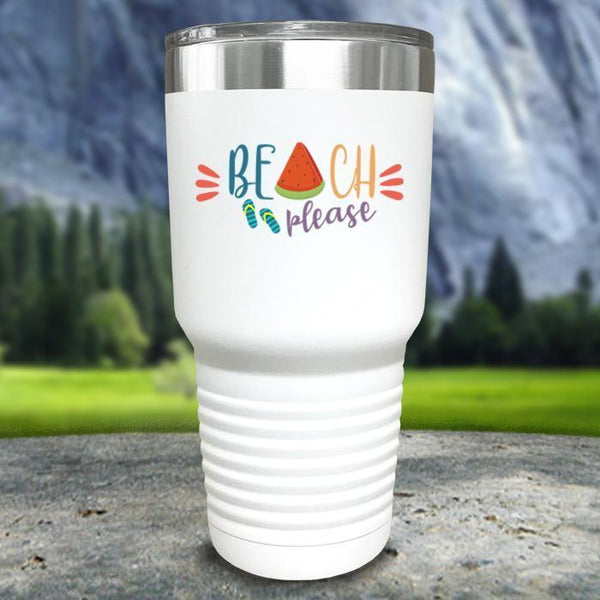 Beach Please Color Printed Tumblers Tumbler Nocturnal Coatings