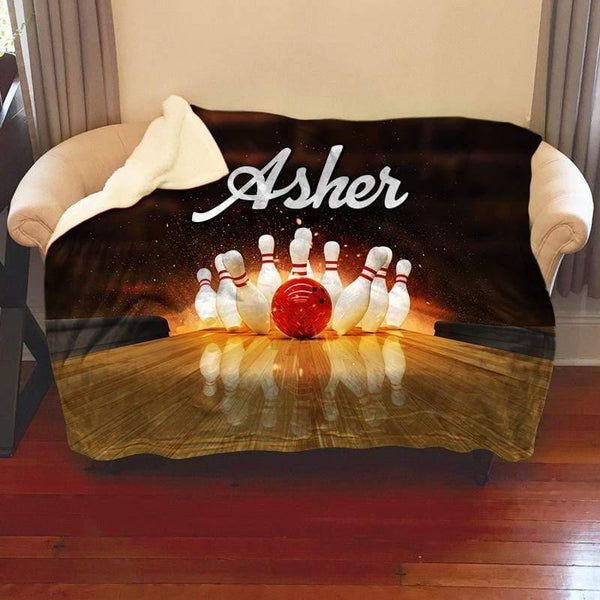 Bowling Personalized Sherpa Blanket