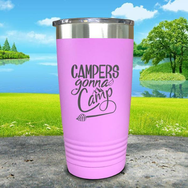 Campers Gonna Camp Engraved Tumbler Tumbler ZLAZER