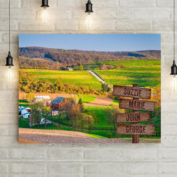 Distant Farm Personalized Premium Canvas