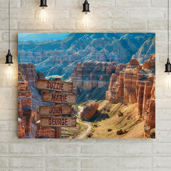 Desert Canyon Personalized Premium Canvas