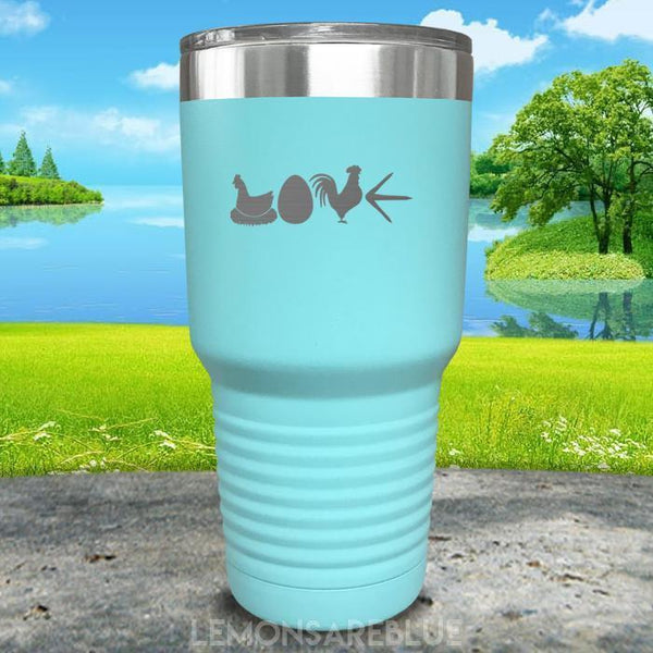 Chicken Love Engraved Tumbler Tumbler ZLAZER 30oz Tumbler Mint
