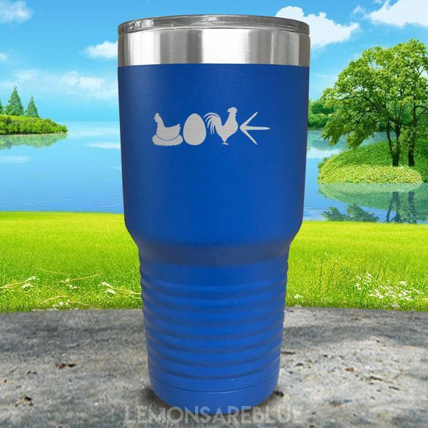 Chicken Love Engraved Tumbler Tumbler ZLAZER 30oz Tumbler Blue