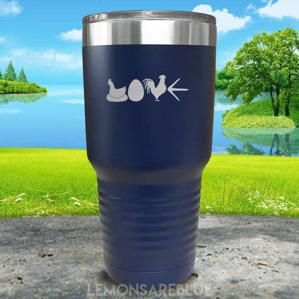 Chicken Love Engraved Tumbler Tumbler ZLAZER 30oz Tumbler Navy
