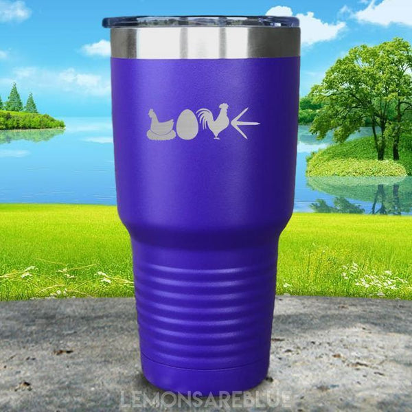 Chicken Love Engraved Tumbler Tumbler ZLAZER 30oz Tumbler Royal Purple