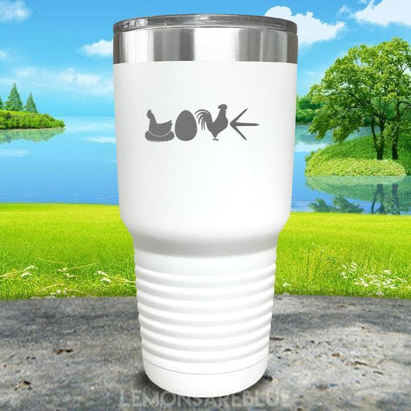 Chicken Love Engraved Tumbler Tumbler ZLAZER 30oz Tumbler White
