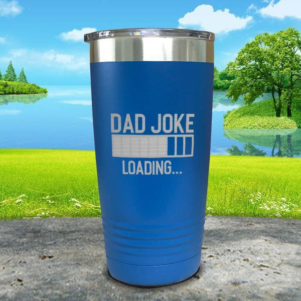 Dad Joke Loading Engraved Tumbler Tumbler ZLAZER 20oz Tumbler Lemon Blue