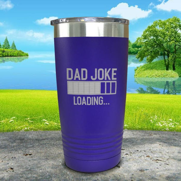 Dad Joke Loading Engraved Tumbler Tumbler ZLAZER 20oz Tumbler Royal Purple