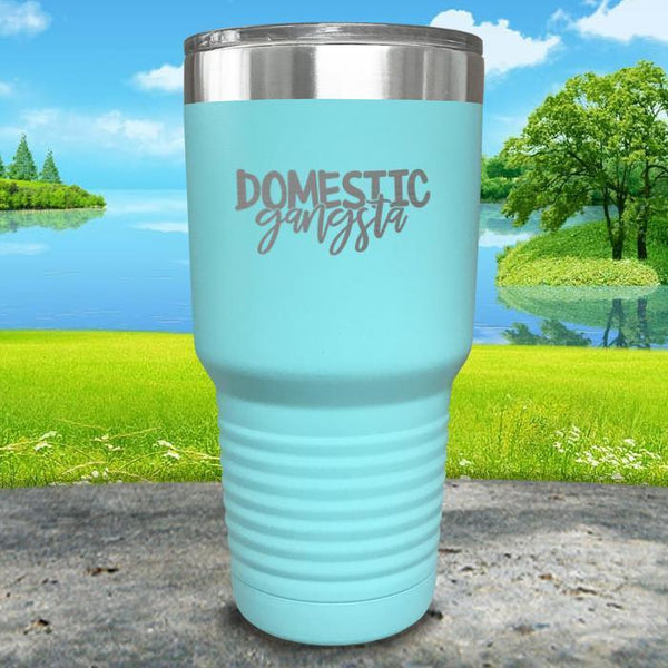 Domestic Gangsta Engraved Tumbler Tumbler ZLAZER 30oz Tumbler Mint