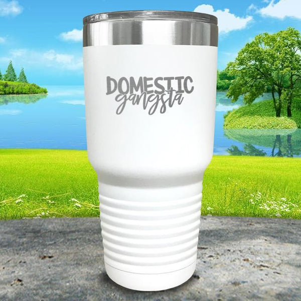 Domestic Gangsta Engraved Tumbler Tumbler ZLAZER 30oz Tumbler White