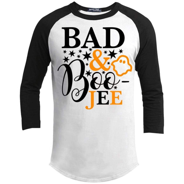 Bad And Boo-jee Raglan T-Shirts CustomCat White/Black X-Small