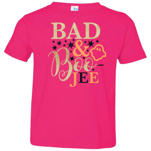 Bad and Boojee Toddler Shirt T-Shirts CustomCat Hot Pink 2T