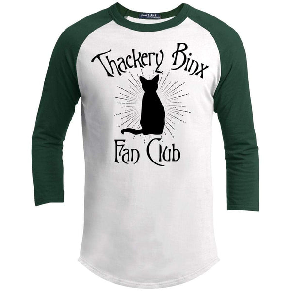 Thackery Binks Raglan T-Shirts CustomCat White/Forest X-Small