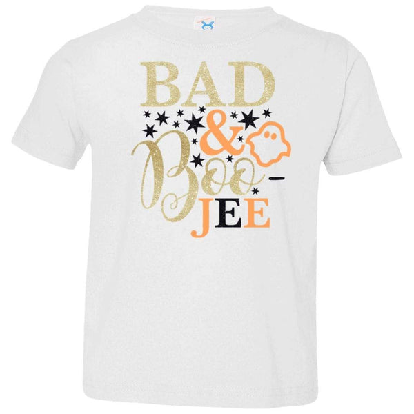 Bad and Boojee Toddler Shirt T-Shirts CustomCat White 2T