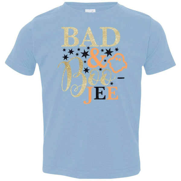 Bad and Boojee Toddler Shirt T-Shirts CustomCat Light Blue 2T