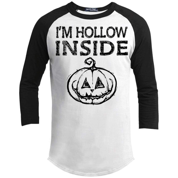 I'm Hollow Inside Raglan T-Shirts CustomCat White/Black X-Small