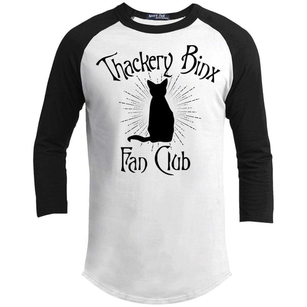 Thackery Binks Raglan T-Shirts CustomCat White/Black X-Small