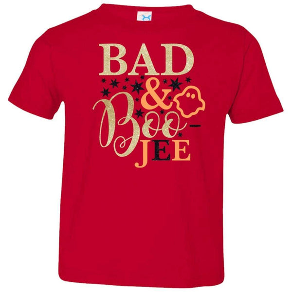 Bad and Boojee Toddler Shirt T-Shirts CustomCat Red 2T