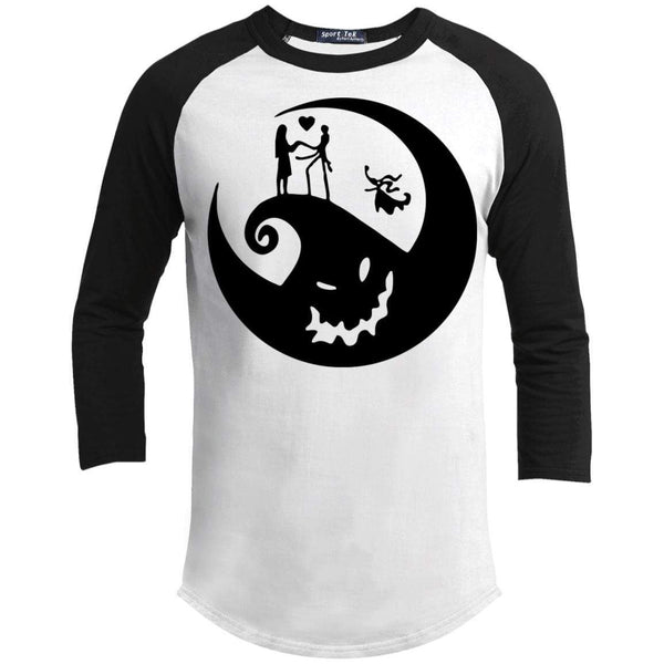 Nightmare Raglan T-Shirts CustomCat White/Black X-Small