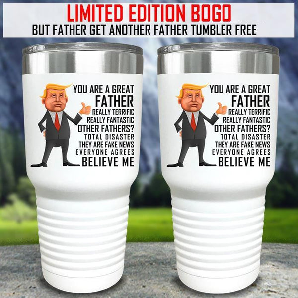 Funny Father Grandfather & Mother BOGO Special Color Printed Tumblers