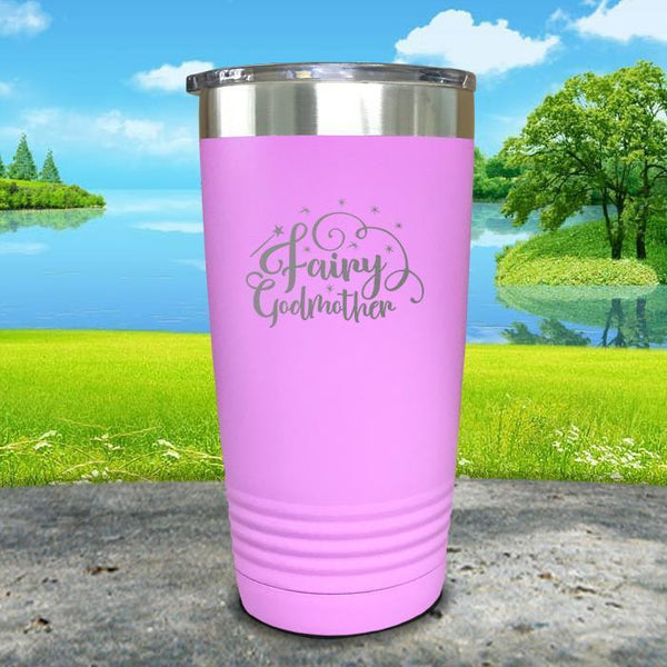 Fairy Godmother Engraved Tumbler Tumbler ZLAZER 20oz Tumbler Lavender