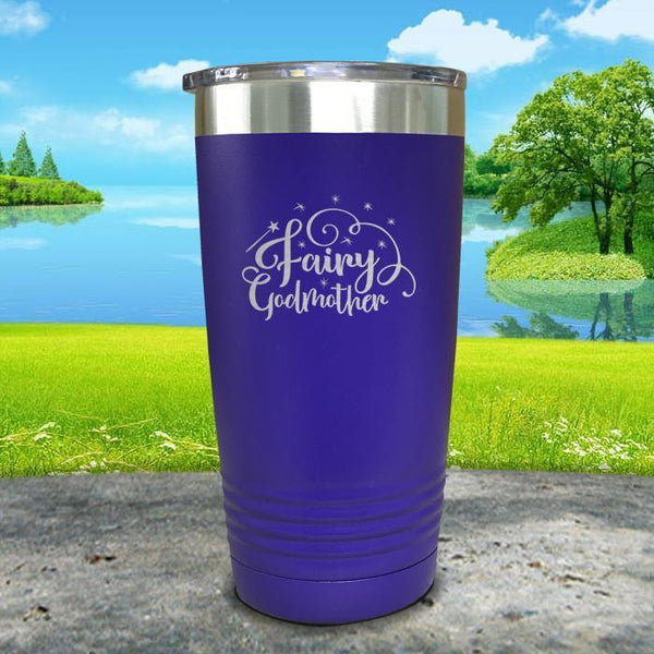 Fairy Godmother Engraved Tumbler Tumbler ZLAZER 20oz Tumbler Royal Purple