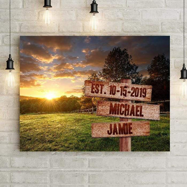 Field Name Sign Personalized Premium Canvas