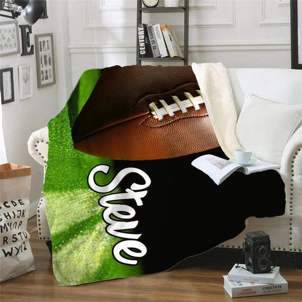 Personalized Football Sherpa Blanket Blankets Lemons Are Blue