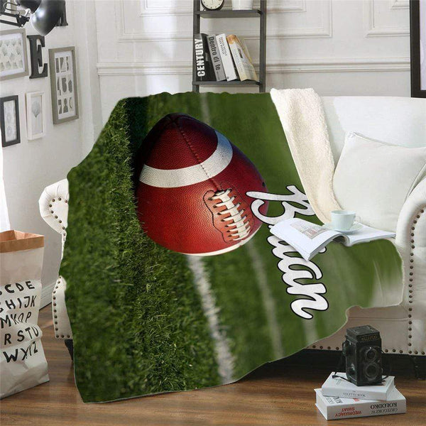 Football Personalized Sherpa Blanket Blankets Lemons Are Blue