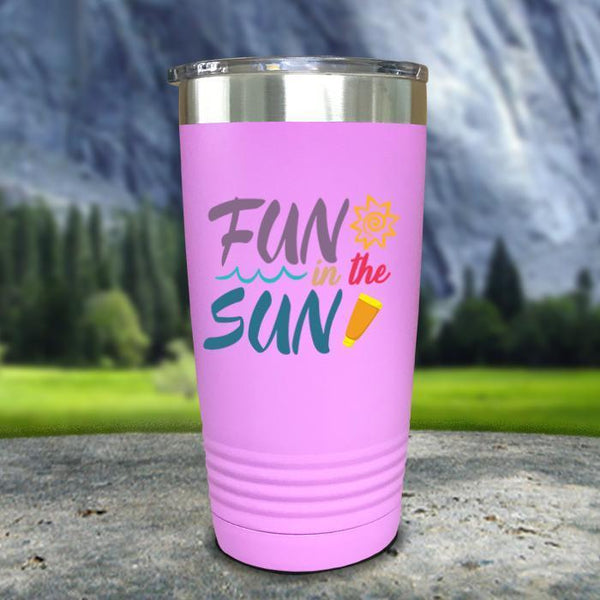 Fun In The Sun Color Printed Tumblers Tumbler Nocturnal Coatings 20oz Tumbler Lavender
