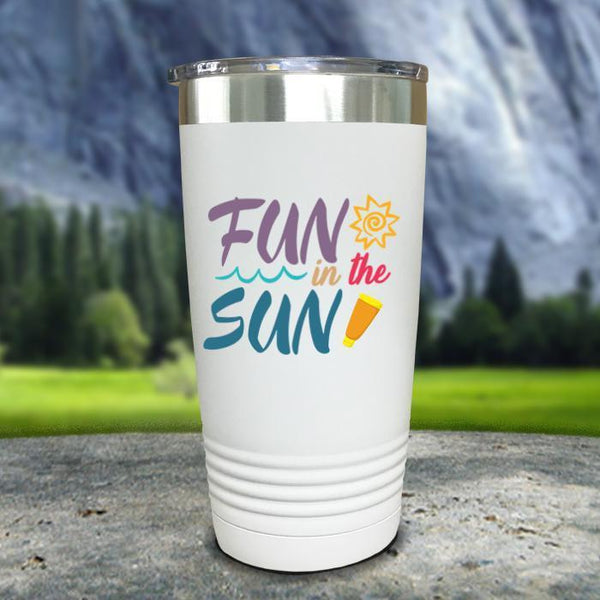 Fun In The Sun Color Printed Tumblers Tumbler Nocturnal Coatings