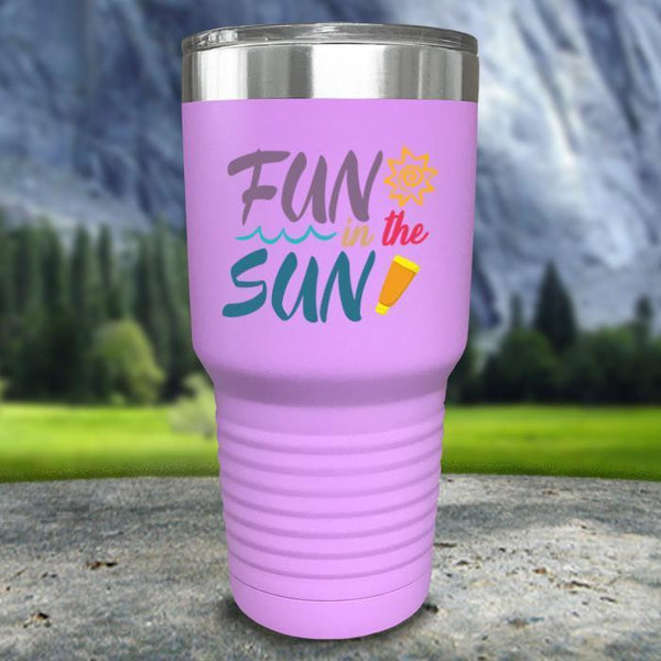 Fun In The Sun Color Printed Tumblers Tumbler Nocturnal Coatings 30oz Tumbler Lavender
