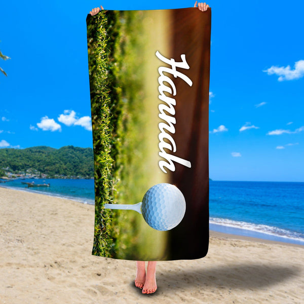Personalized Golf Premium Beach/Pool Towel