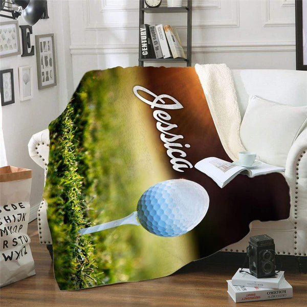 Golf Personalized Sherpa Blanket Blankets Lemons Are Blue